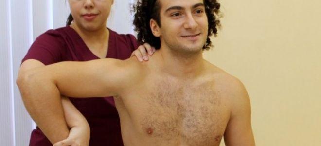 Упражнения при плечелопаточном