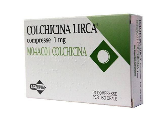 Таблетки Колхицина для лечения подагры