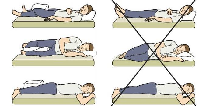 Рекомендованное положение при сне и отдыхе в раннем периоде