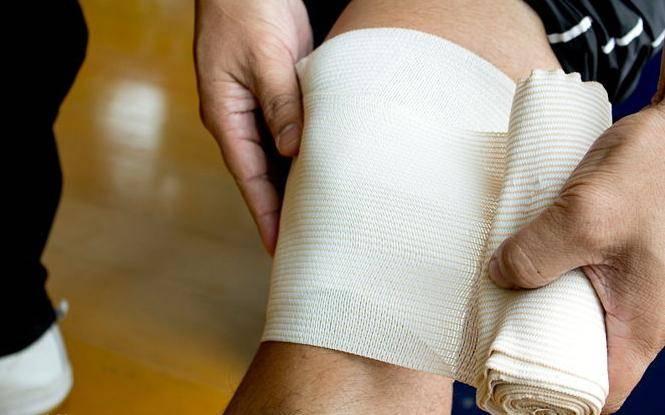 компресс с димексидом на колено