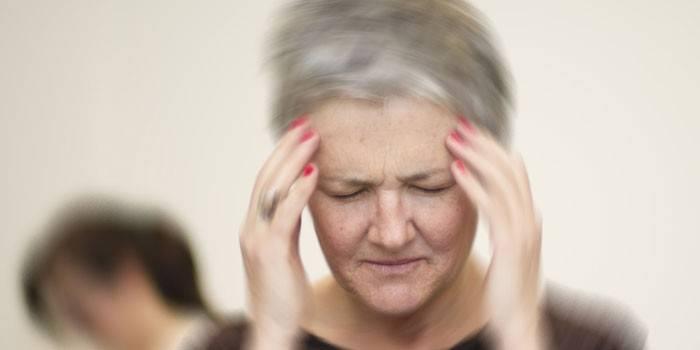 У пожилой женщины головокружение