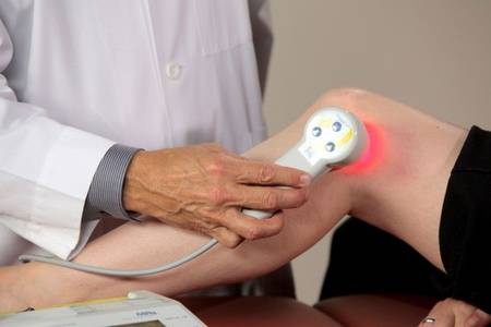 физиопроцедура на колено