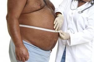причина подагры - ожирение