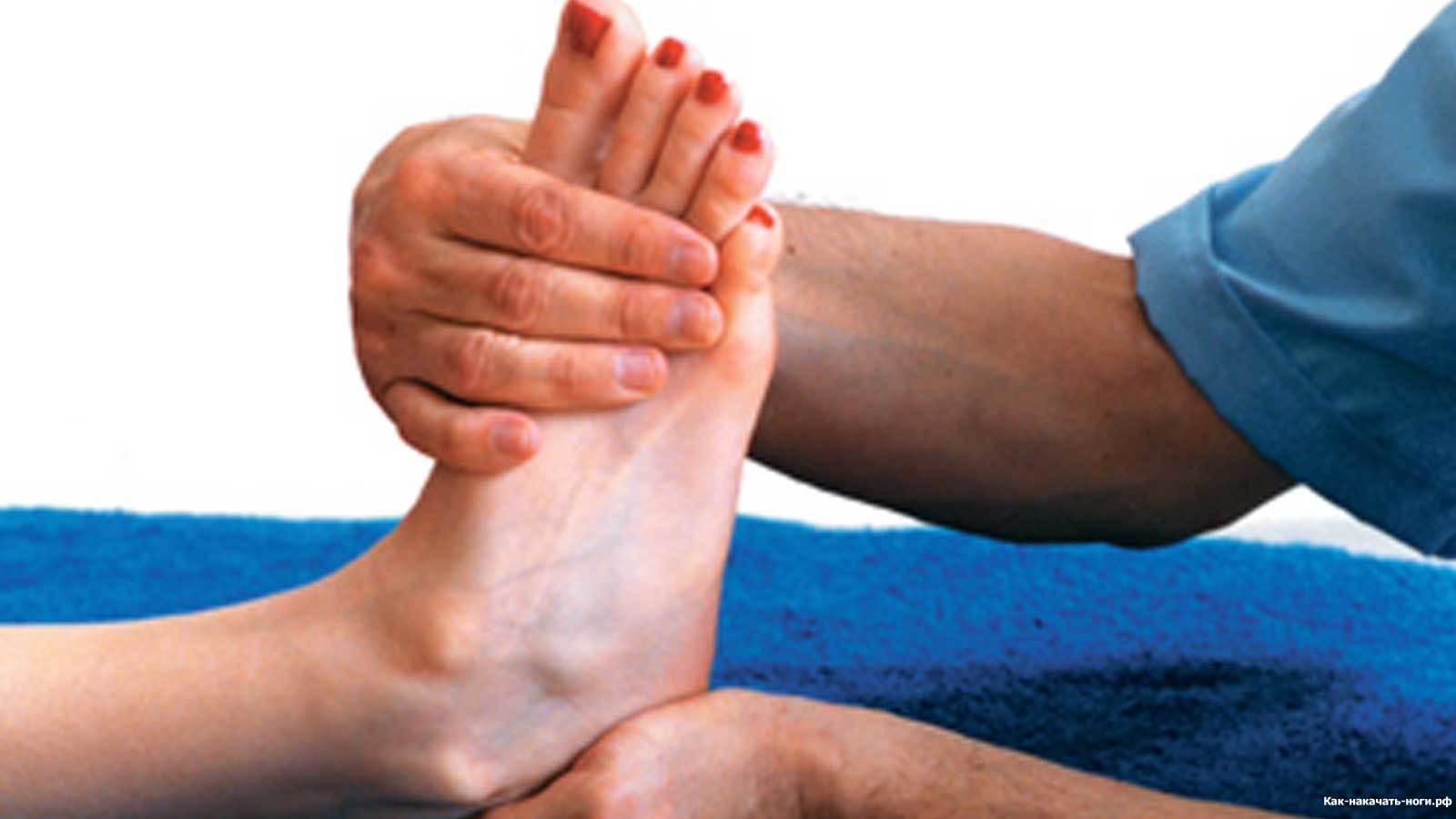 Признаки растяжения голеностопа
