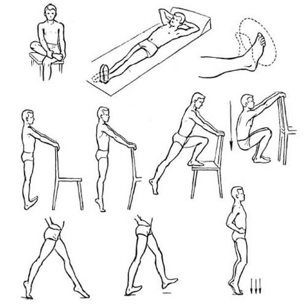 Физические упражнения для восстановления голеностопа