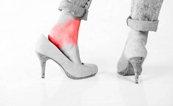 Боль в стопах от каблуков